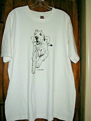 """Irish Wolfhound  """"Coming and Going""""  T-Shirt  Front and Back  * 2X *"""