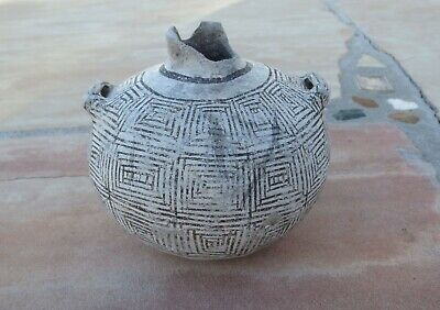 1200AD Canteen Early Tularosa, Anasazi Authentic Pueblo Pottery Pre-columbian