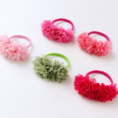 Hair Flower Kids Accessories Girls Clips Bands Elastic Multi-layer