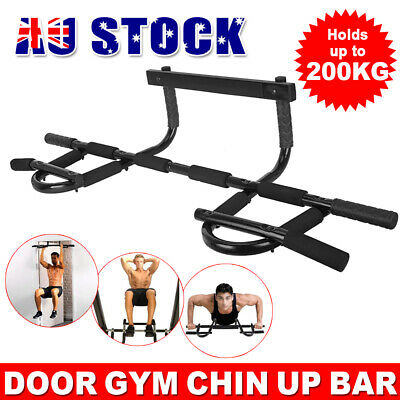 Gym Doorway Chin Up Bar Pull Up Portable Door Exercise Station Fitness Workout