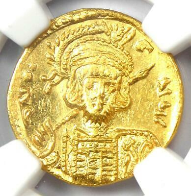 Constantine IV AV Solidus Gold Coin 668-685 AD- Certified NGC Choice MS (UNC)