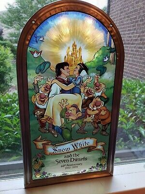 Disney Snow White and the Seven Dwarfs stained glass NIB limited ed. # 1145/2000
