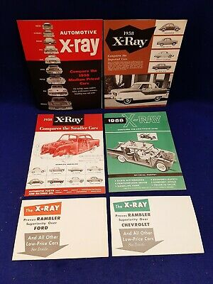 Lot of 6 1958 AMC Rambler X-Ray Low Medium Priced Imported Cars Sales Brochure