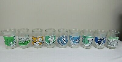 Vintage Welchs Looney Tunes Jelly Jar Glasses Collection Series Lot of 9 90s