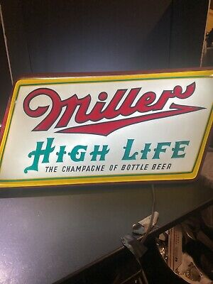 Rare 1951 MILLER HIGH LIFE BEER Champagne Of Beers!!