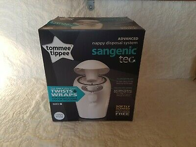 Tommee Tippee - Twist + Wrap Sangenic  Nappy Disposal Bin System White +1Refill