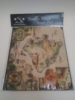 NEW Mousepad of vintage Island Hawaiian Map image BLAISE DOMINO historical gift