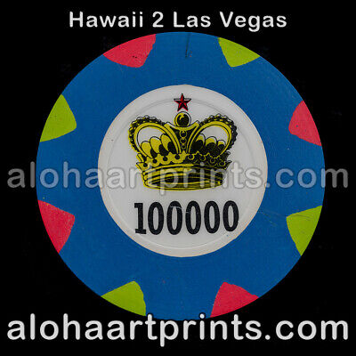 48mm Paulson casino clay poker chip extremely rare!!! Stands on edge Easily