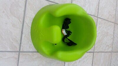 bumbo seat with straps in green