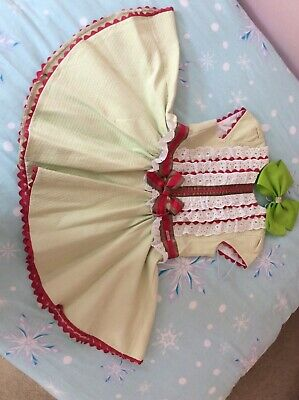 girls miranda dress. green 6 years. small sizing only used once