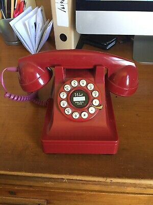 vintage red telephone perfect working order