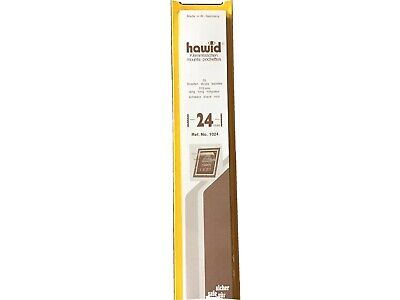HAWID STAMP MOUNTS 24mm BLACK Pack of 25 Strips 210mm x 24mm - Ref. No. 1024