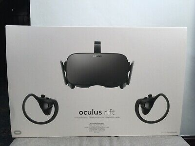 Oculus Rift Virtual Reality Headset with Touch Controllers and Sensors