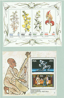 South Africa - Lot of 2 Minisheets and 14 Stamps - Mint Never Hinged