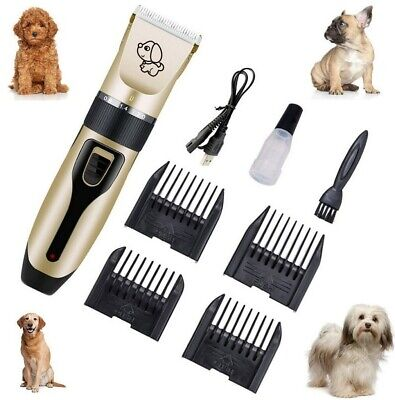 Pet Hair Clippers Low Noise Dog Cat Grooming Clipper Electric Shaver Trimmer Set
