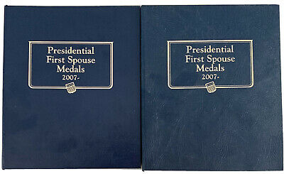 Presidential First Spouse Bronze Medals in Album Complete Set 2007-2016 Mint!