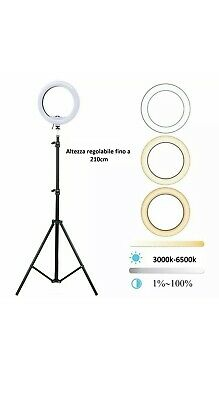 STUDIO FOTOGRAFICO PORTATILE LED RING LIGHT PER SELFIE TikTok Instagram Studio