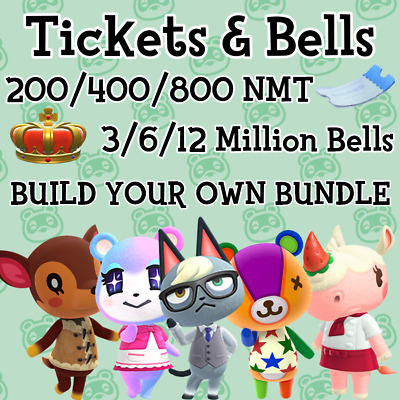 Nook Miles Tickets & Bells - Animal Crossing New Horizons