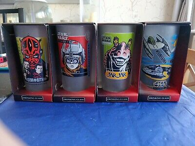Rare Collectable Star Wars Episode 1 Drinking Glasses