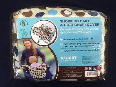 CROC n FROG Child seat Shopping Cart & High Chair cover