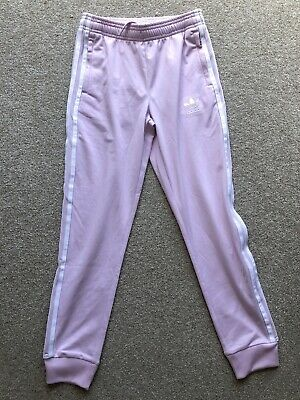 Adidas Girls Pink Tracksuit Bottoms Age 10-11