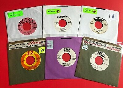VARIOUS  ~  Lot of 6  -  45 rpm records  -  Rare PROMOS & DJ COPIES