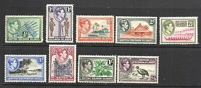 Stamps. British Commonwealth Solomon Islands 1939/51 - KGVI Selection M/M (9v)