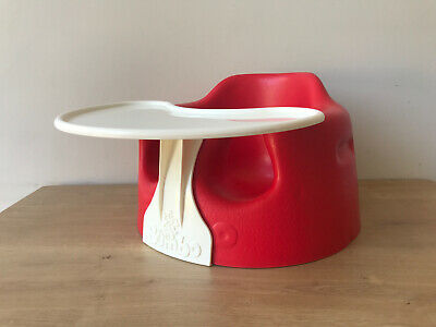 Red Bumbo Baby Seat With Play Tray FREE UK P&P
