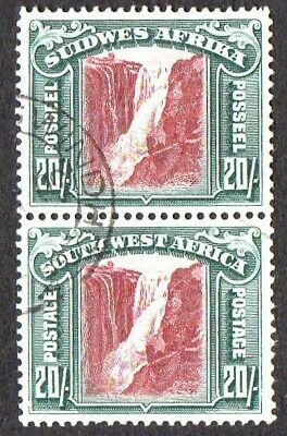 Br.Commonwealth SW Africa 1931 Se-Tenant High Values Selection 7 Pairs Inc.20/-