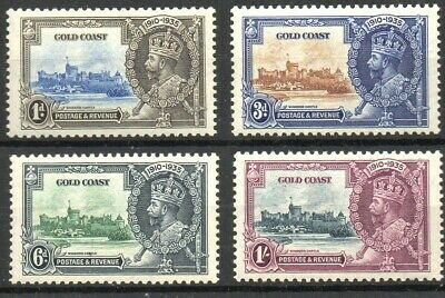 Stamps Br. Commonwealth Gold Coast 1935 KGV Silver Jubilee SG113/SG116 M/M (4)