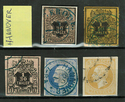 Old Germany Stamps - Hannover - 3 Stamps