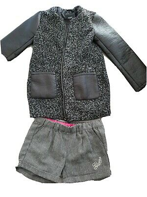Guess Girls Jacket And Shorts Size 7-8  Years