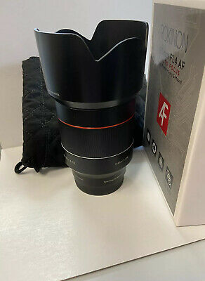 Used Rokinon AF 50mm f/1.4 FE Lens for Sony E. Good Condition.