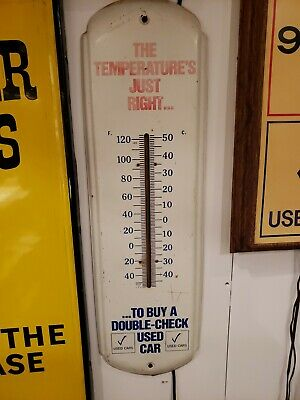 Vintage buick thermometer