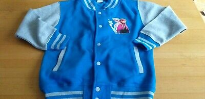 girls age 9-11years blue Bomber baseball Frozen detail Jacket new no tag