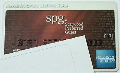 Expired American Express SPG Starwood Hotels Credit Card Bank AmEx USA