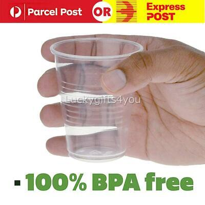 1000X Disposable Plastic Cups Clear Reusable Drinking Water Cup Party 200ml OZ