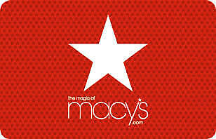 $100 Macy's Gift Card Certificate In Store or Online  - Free Delivery