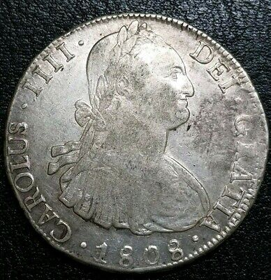 Bolivia 1808 PTS 8 Reales PJ Crudely Struck & Double Date Eight Error Silver $1