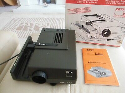Zett Ikolux Autofocus Slide projector - with original instructions & box
