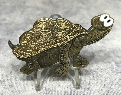Turlutortue Geocoin - LE TwoTone Antique Bronze/Gold - inaktiv - Geocaching
