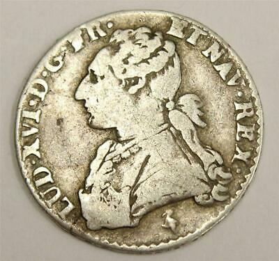 France 12 Sols 1/10 ECU 1778 A  Paris silver coin Louis XVI