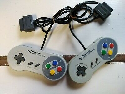 2x Original Japan Super Famicom Controller - SHVC-005 - Nintendo SNES compatible