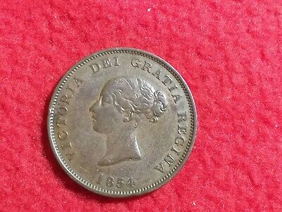 Token Canada New Brunswick One Penny 1854