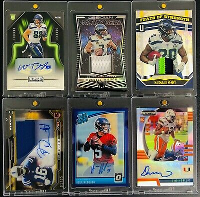 💎46-Card Rare Lot Seattle Seahawks Auto Rc Jersey Patch Sp /25, /35 Rpa's💎