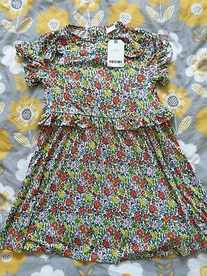 Girls summer Dress floral ditsy next 6 7 years new bnwt