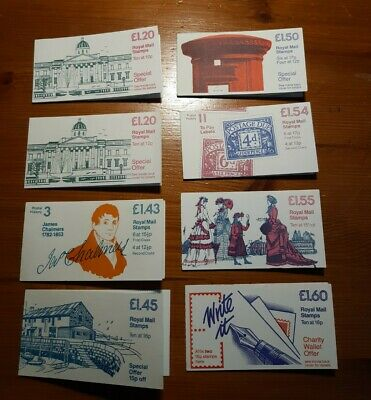 Great Britain GB 1980's Decimal Stamp Booklets. £1.20 - £1.60 values