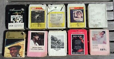 Job Lot of Ten Eight-track cartridges inc Roxy Music and David Bowie