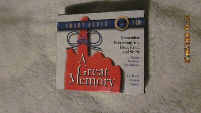 A Great Memory Remember Everything You Hear Read And Study 2 Cd Set