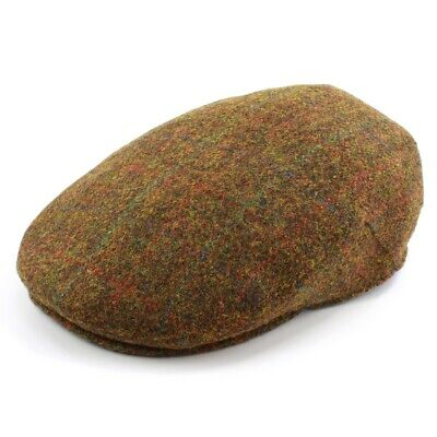 The British Bag Company Stornoway Harris Tweed Cap Available In Various Sizes
